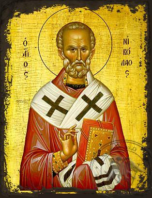 Saint Nicholas - Aged Byzantine Icon