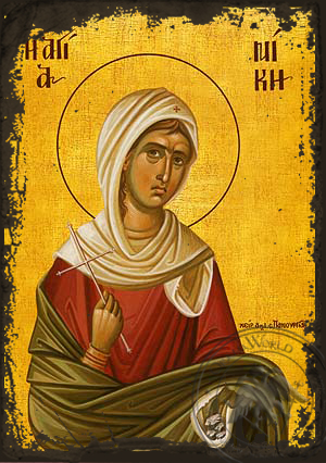 Saint Nike, Martyr - Aged Byzantine Icon