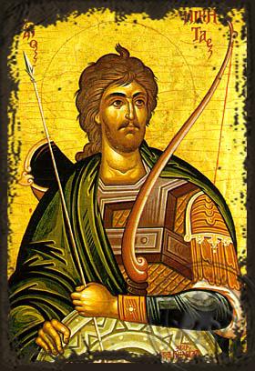 Saint Nikitas - Aged Byzantine Icon