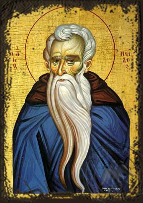 Saint Neilos - Aged Byzantine Icon