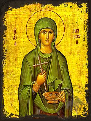 Saint Paraskeve - Aged Byzantine Icon