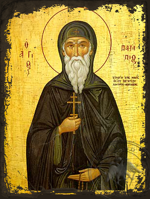 Saint Patapios - Aged Byzantine Icon