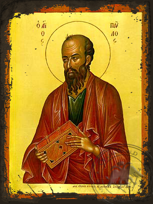 Saint Paul the Apostle - Aged Byzantine Icon