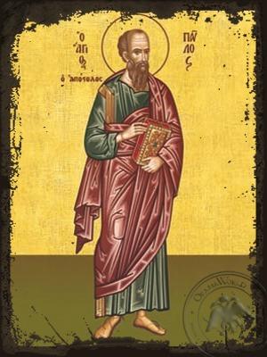 Saint Paul the Apostle Full Body - Aged Byzantine Icon