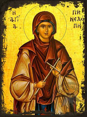 Saint Penelope - Aged Byzantine Icon