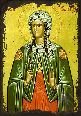 Saint Photine the Samaritan Woman - Aged Byzantine Icon