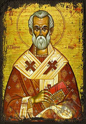Saint Photios the Great - Aged Byzantine Icon