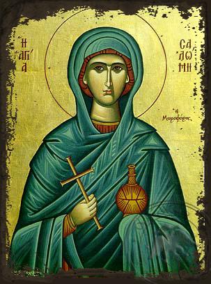 Saint Salome the Myrrh_Bearing - Aged Byzantine Icon