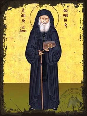Saint Sofronios Sacharof of Essex Full Body - Aged Byzantine Icon
