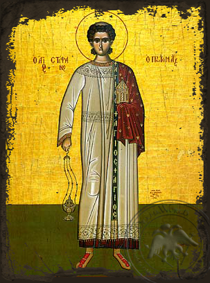 Saint Stephen, the First Martyr, Full Body - Aged Byzantine Icon