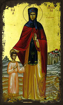 Saint Theodora of Alexandria, Full Body - Aged Byzantine Icon