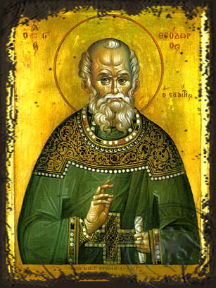 Saint Theodore the Confessor, Abbot of the Studion - Aged Byzantine Icon
