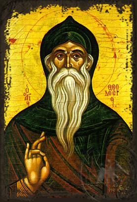 Saint Theodosius, the Cenobiarch - Aged Byzantine Icon
