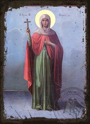 Saint Thomais - Aged Byzantine Icon