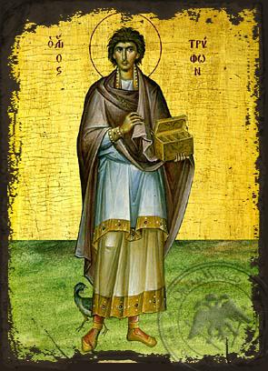 Saint Tryphon - Aged Byzantine Icon