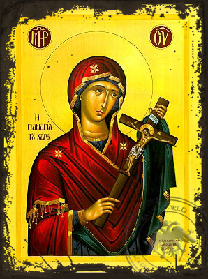 Virgin of the Charon - Aged Byzantine Icon