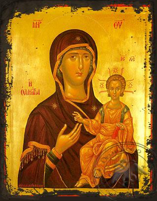 Panagia Hodegetria - Aged Byzantine Icon