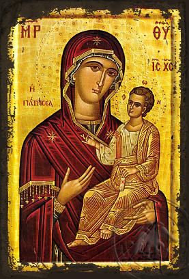 Panagia Giatrissa - Aged Byzantine Icon