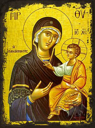 Panagia Panachrantos - Aged Byzantine Icon