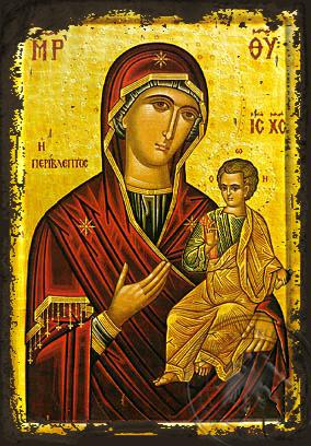 Panagia Perivleptos - Aged Byzantine Icon
