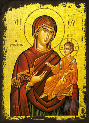 Panagia Saviour of Souls - Aged Byzantine Icon