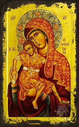 Panagia The Kykkotissa - Aged Byzantine Icon