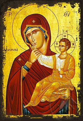 Panagia The Paramythia - Aged Byzantine Icon