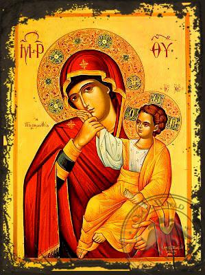 Virgin and Child, Paramythia - Aged Byzantine Icon