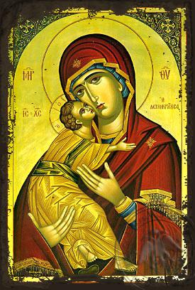 Panagia The Glykophilousa  Dexiokratousa Aged Byzantine I