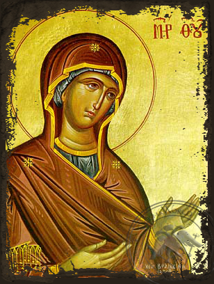 Panagia The Supplicating - Aged Byzantine Icon