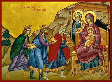 The Adoration of the Three Magi - Hand-Painted Icon