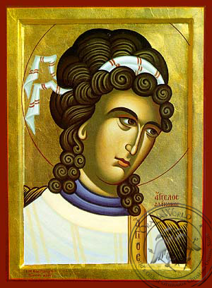 Angel Deacon, Bust - Hand Painted Icon