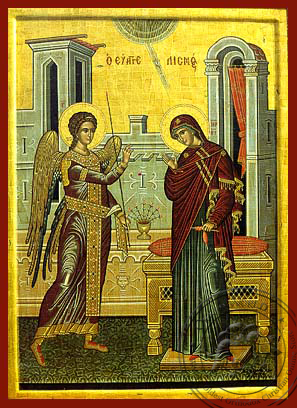 The Annunciation - Hand-Painted Icon