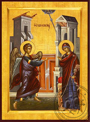 Annunciation - Hand Painted Icon