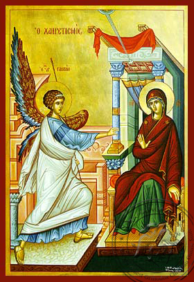 Annunciation (Salutation) - Hand Painted Icon