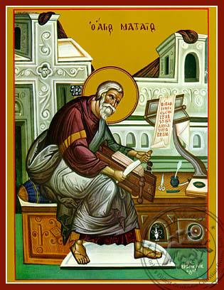 Apostle and Evangelist Saint Matthew, Full Body - Hand Painted Icon