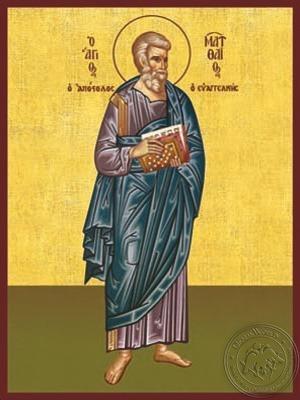 Apostle and Evangelist Saint Matthew Full Body - Hand Painted Icon