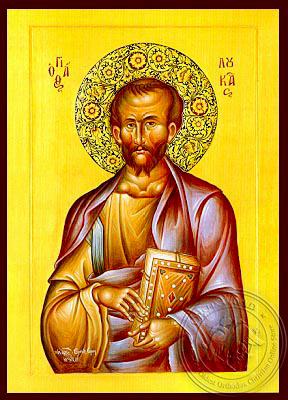 Apostle and Evangelist Saint Luke - Hand Painted Icon