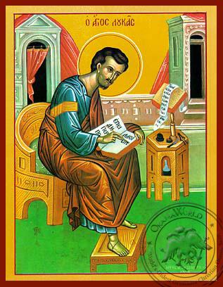 Apostle and Evangelist Saint Luke, Full Body - Hand Painted Icon