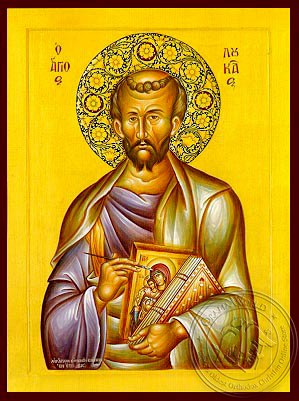 Apostle and Evangelist Saint Luke with Hagiography - Hand Painted Icon