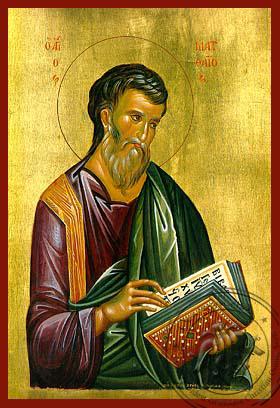 Apostle and Eyangelist Saint Matthew - Hand Painted Icon