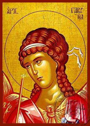 Archangel Gabriel, Bust - Hand Painted Icon