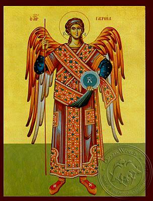 Archangel Gabriel, Full Body - Hand Painted Icon
