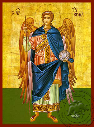 Gabriel Archangel Full Figure - Hand-Painted Icon