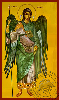 Archangel Michael, Full Body - Hand Painted Icon