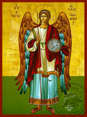 Michael Archangel Full Figure - Hand-Painted Icon
