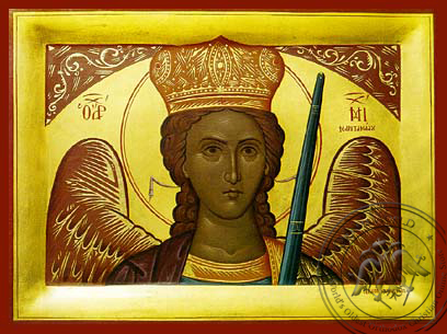 Archangel Michael of Mantamadon, Bust - Hand Painted Icon