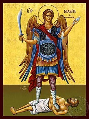 Archangel Michael Panormites of Syme Greece Full Body - Hand Painted Icon