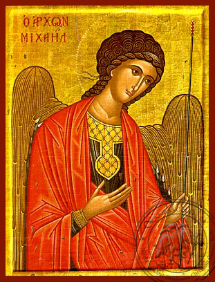 Archangel Michael, Supplicating - Hand Painted Icon