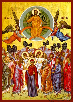 The Ascention - Hand-Painted Icon